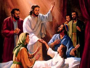 Ilustrasi: Yesus membangkitkan seorang anak.