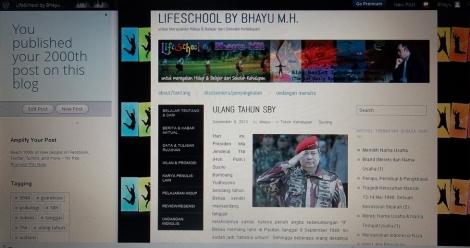 2000th post on LifeSchool blog