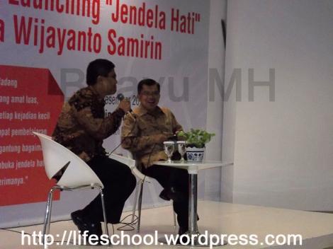 JK di book launching Jendela Hati Wijayanto-foto Bhayu