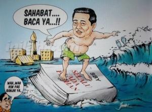 kartun launching buku SBY
