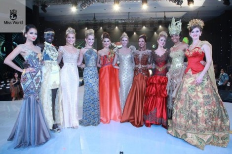 Para model internasional pemenang kontes Miss World 2013