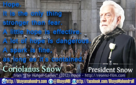 FB FanPage BMH-Snow-Hunger Games