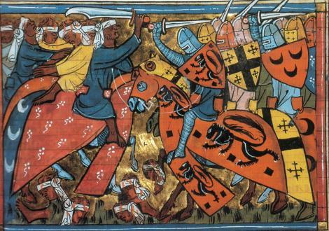Ilustrasi lukisan abad pertengahan tentang terjadinya Perang Salib